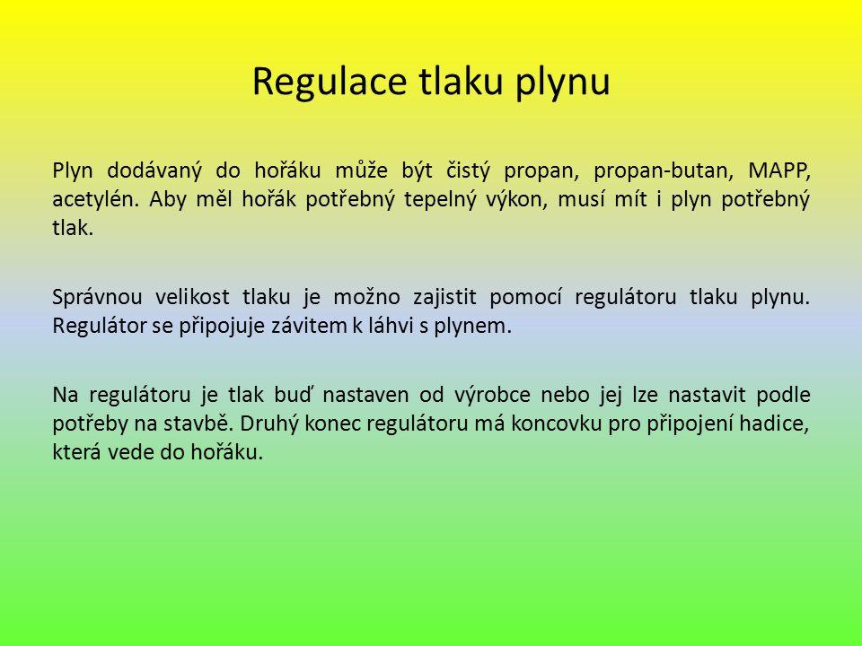 Regulace tlaku plynu