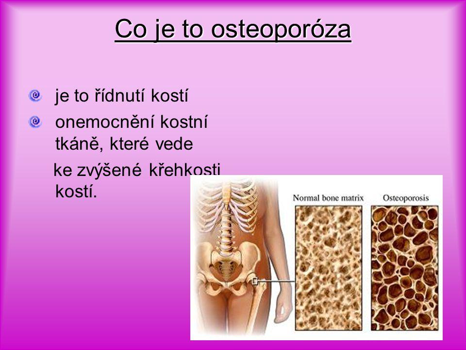 Co je to osteoporóza je to řídnutí kostí