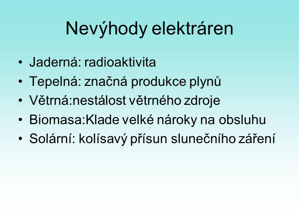 Nevýhody elektráren Jaderná: radioaktivita