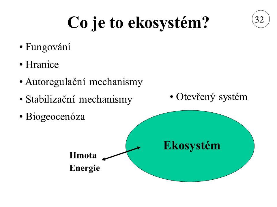 Co je to ekosystém Ekosystém Fungování Hranice