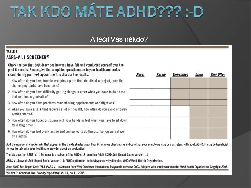 A léčil Vás někdo Tak kdo máte ADHD :-D