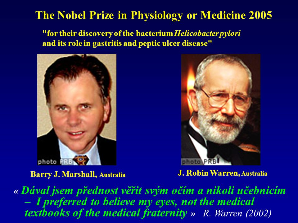 The Nobel Prize in Physiology or Medicine 2005