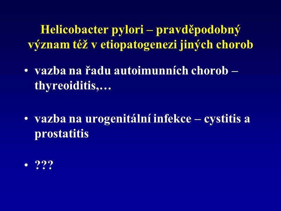 Helicobacter pylori – pravděpodobný význam též v etiopatogenezi jiných chorob