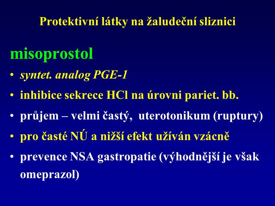 Protektivní látky na žaludeční sliznici