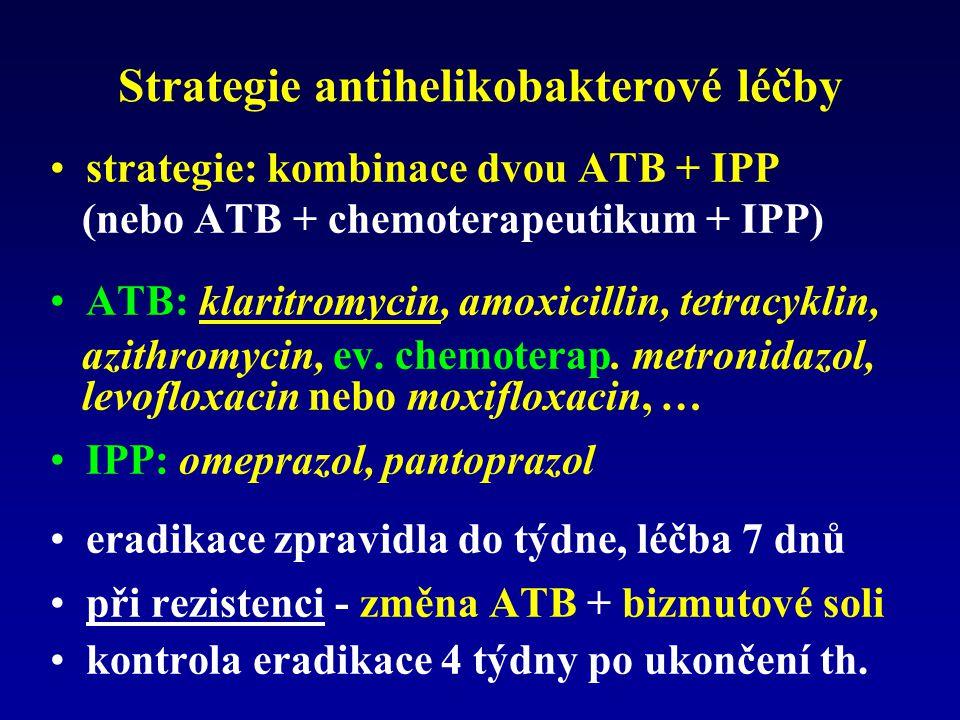 Strategie antihelikobakterové léčby
