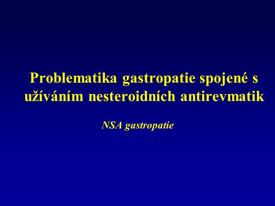 Problematika gastropatie spojené s užíváním nesteroidních antirevmatik