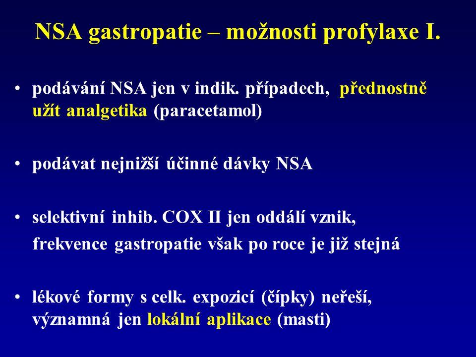 NSA gastropatie – možnosti profylaxe I.