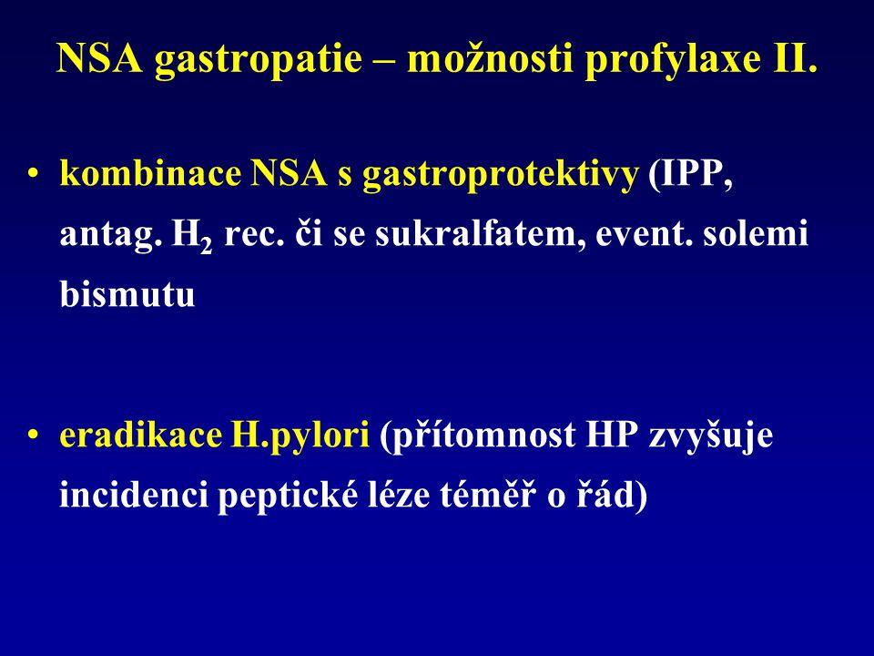 NSA gastropatie – možnosti profylaxe II.