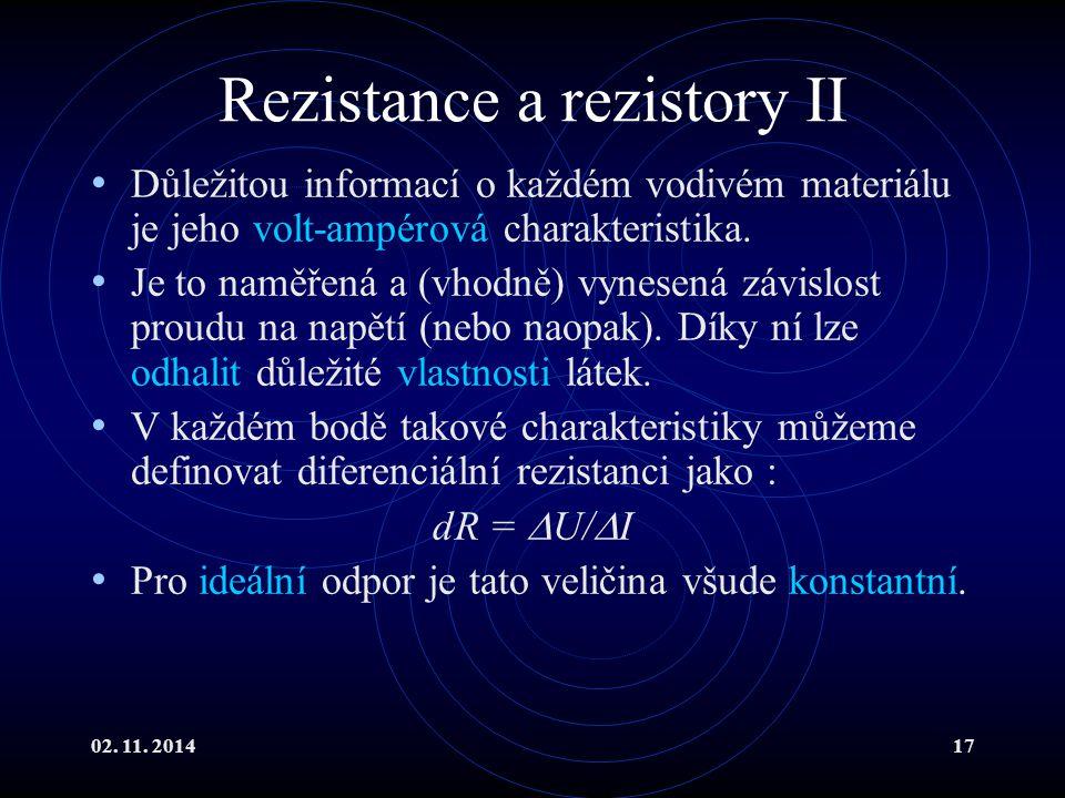 Rezistance a rezistory II