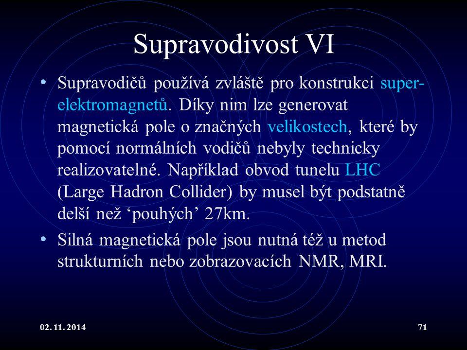 Supravodivost VI