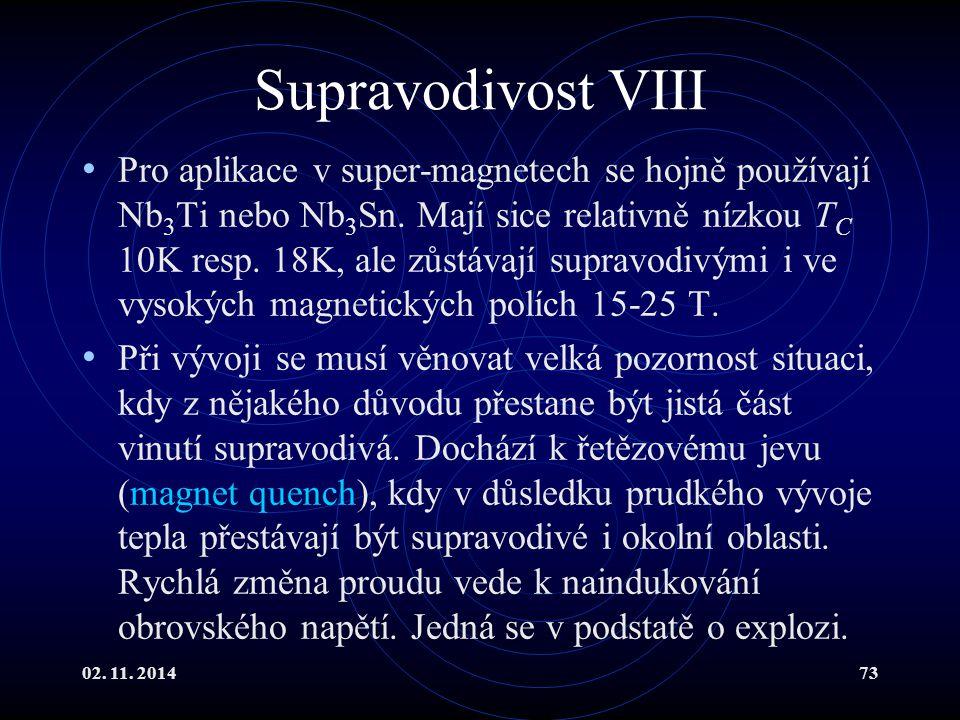 Supravodivost VIII