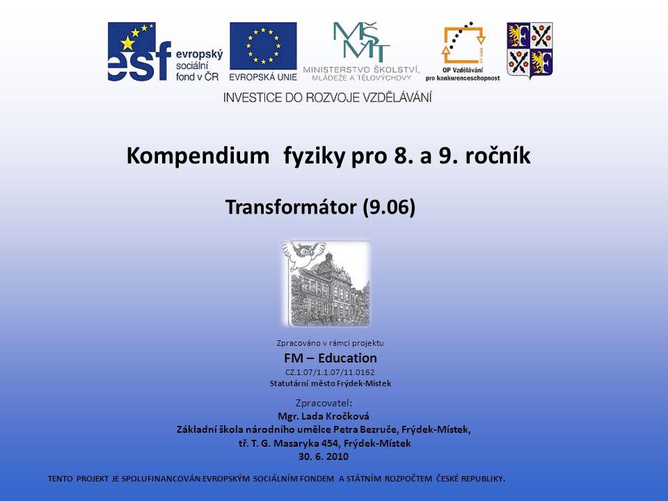 Kompendium fyziky pro 8. a 9. ročník