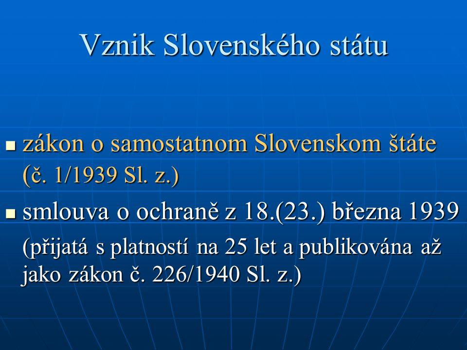 Vznik Slovenského státu