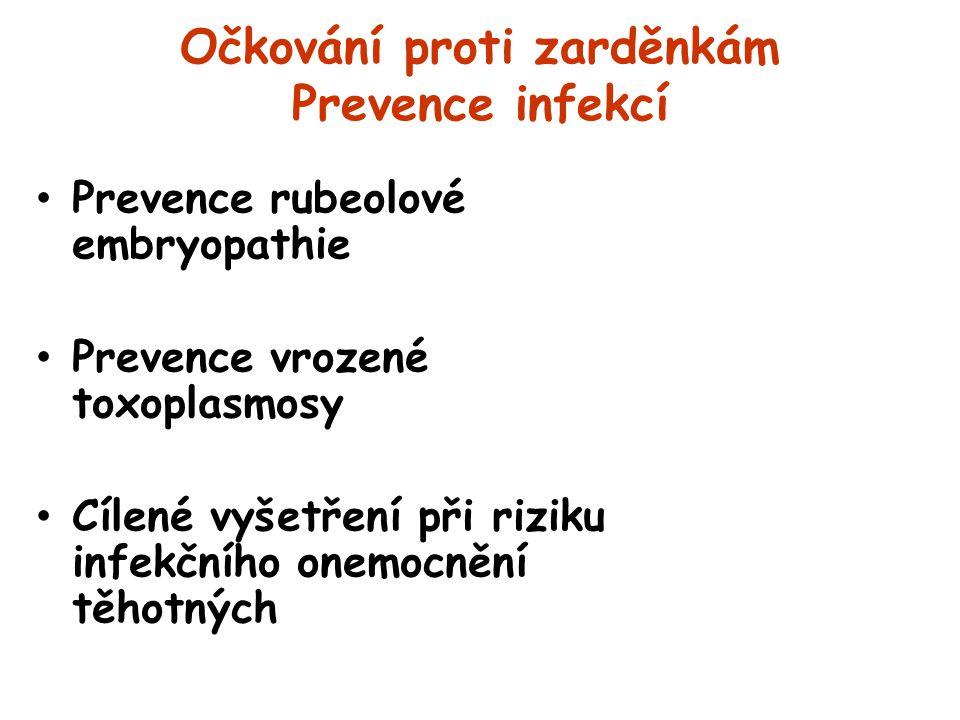 Očkování proti zarděnkám Prevence infekcí