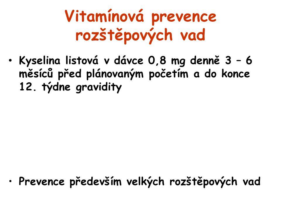 Vitamínová prevence rozštěpových vad