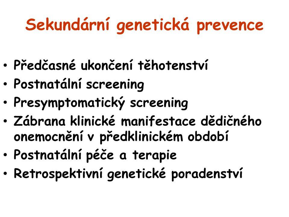 Sekundární genetická prevence