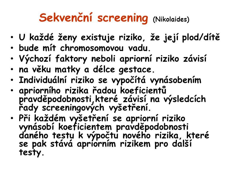 Sekvenční screening (Nikolaides)