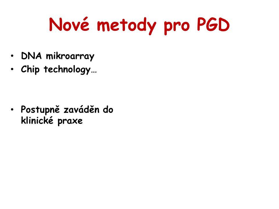 Nové metody pro PGD DNA mikroarray Chip technology…