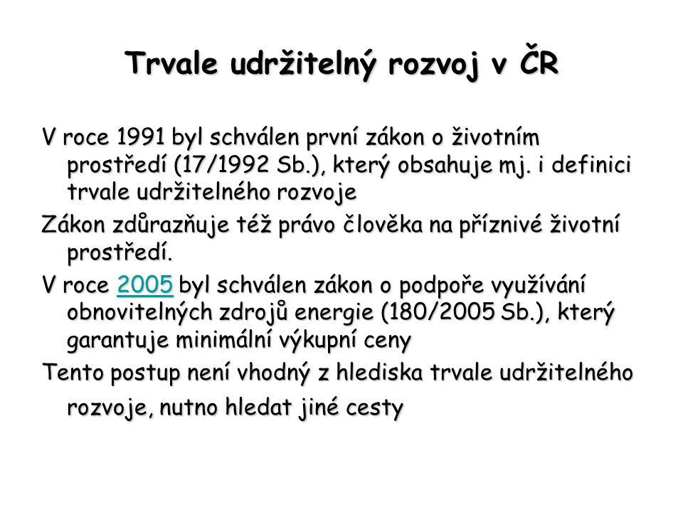 Trvale udržitelný rozvoj v ČR