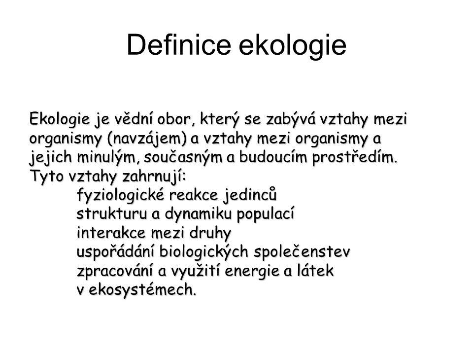 Definice ekologie