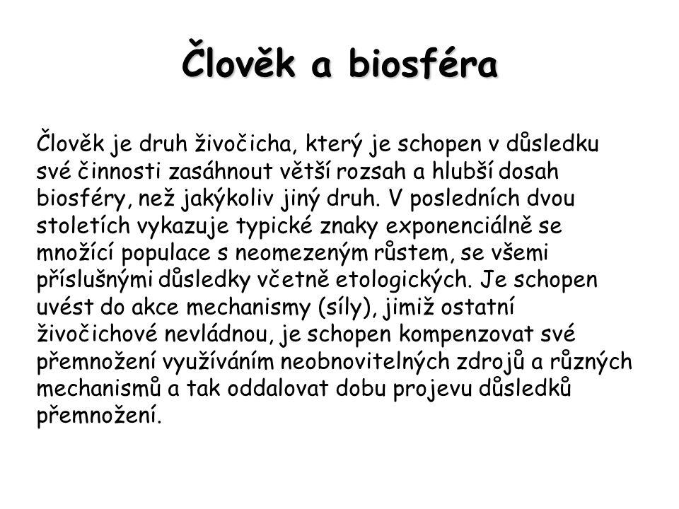 Člověk a biosféra