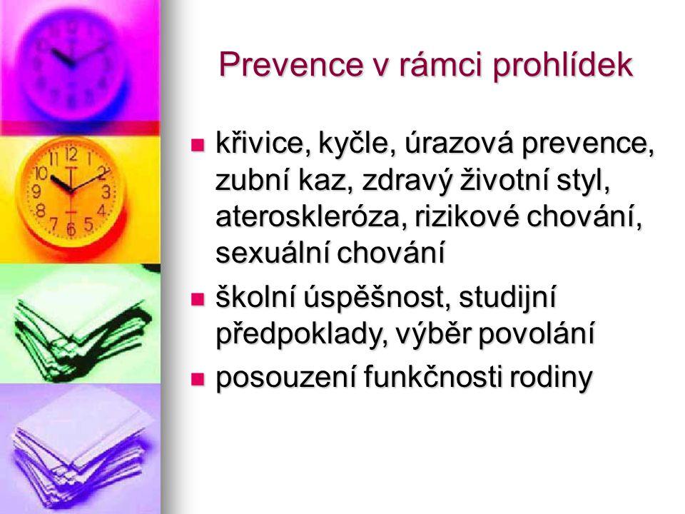 Prevence v rámci prohlídek