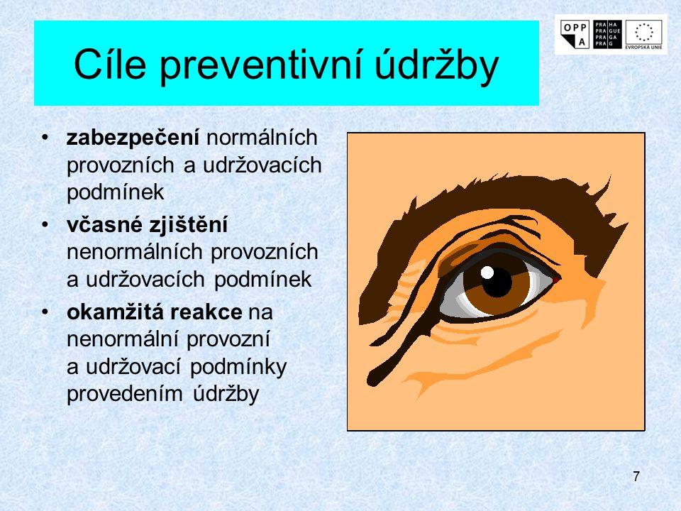 Cíle preventivní údržby