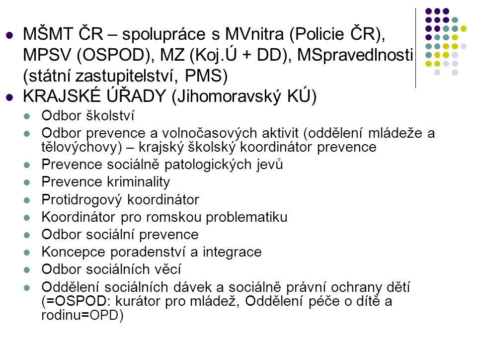MŠMT ČR – spolupráce s MVnitra (Policie ČR),