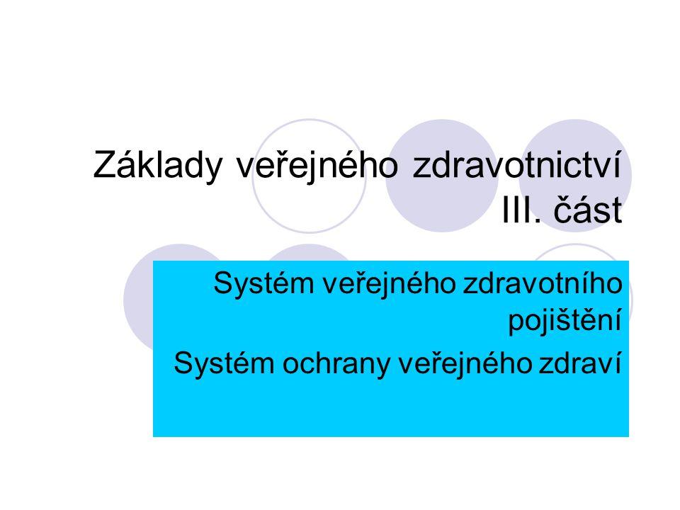 Základy veřejného zdravotnictví III. část