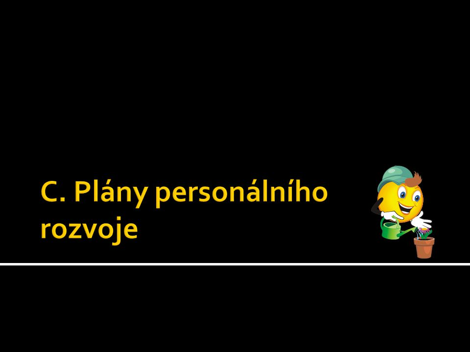 C. Plány personálního rozvoje