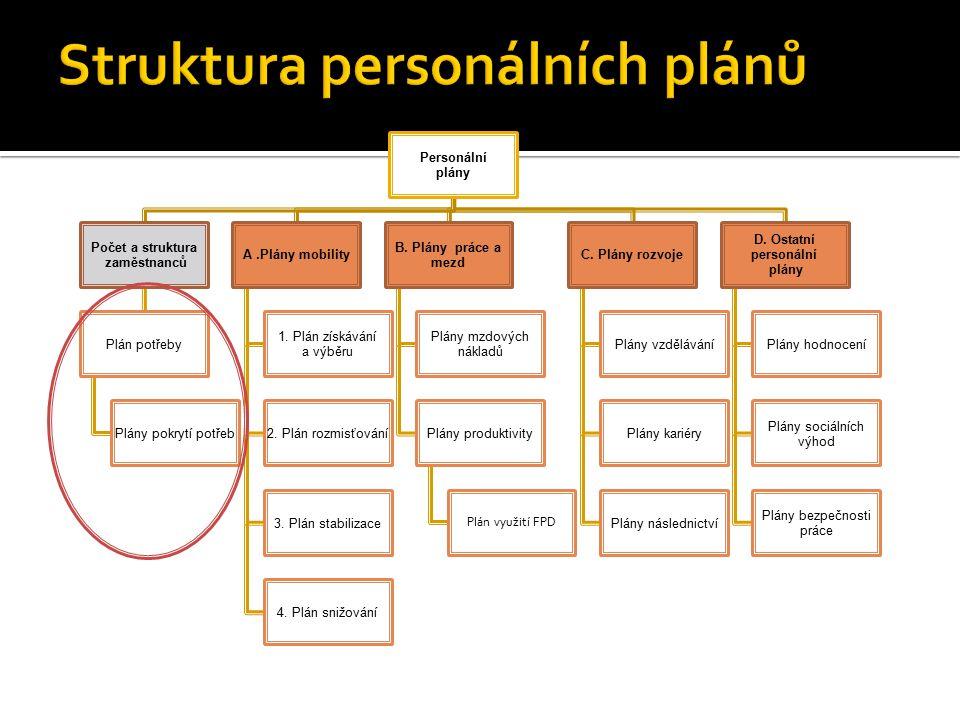 Struktura personálních plánů