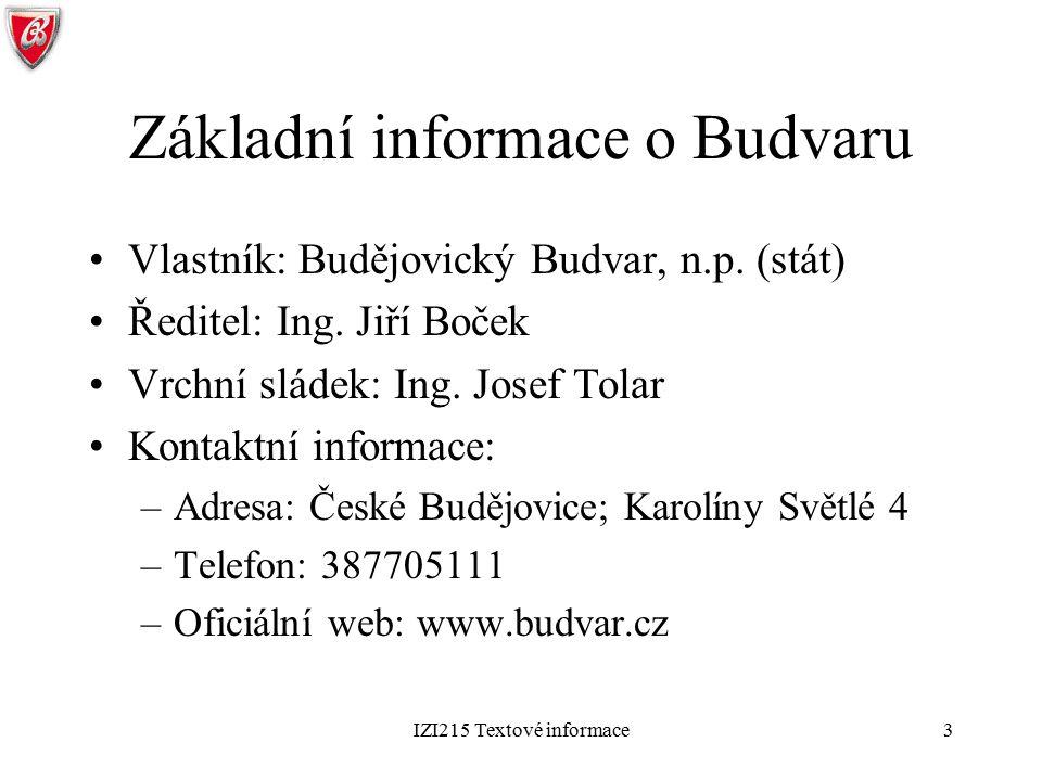 Základní informace o Budvaru
