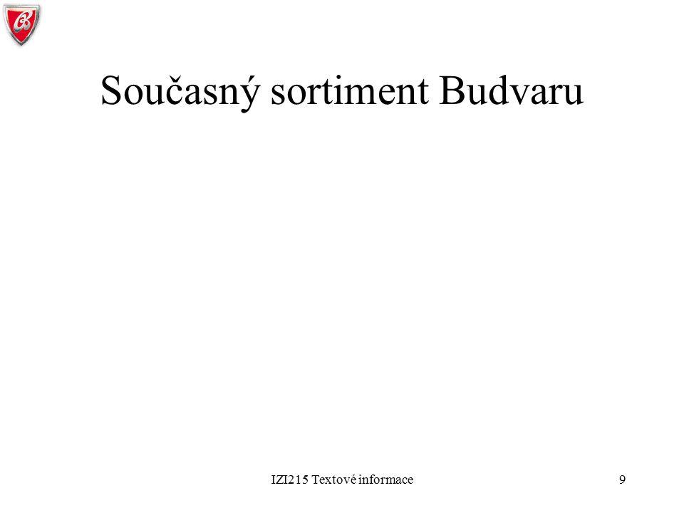 Současný sortiment Budvaru