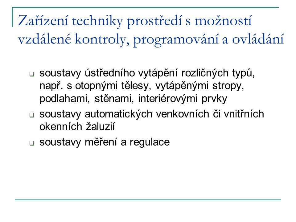 Zařízení techniky prostředí s možností vzdálené kontroly, programování a ovládání