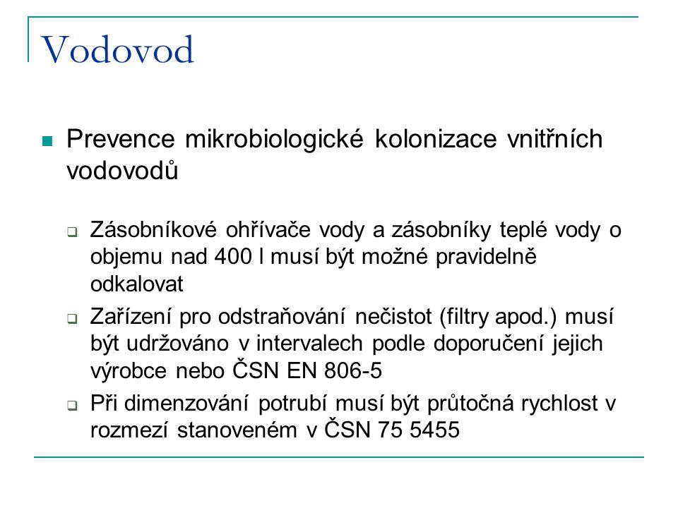 Vodovod Prevence mikrobiologické kolonizace vnitřních vodovodů