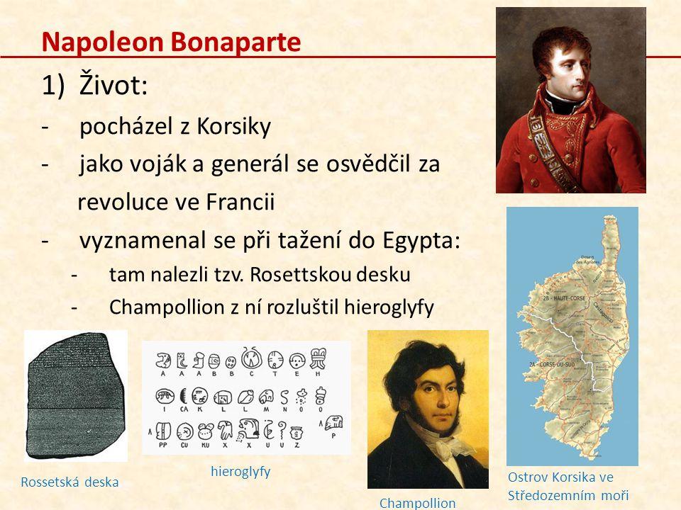 Napoleon Bonaparte Život: pocházel z Korsiky