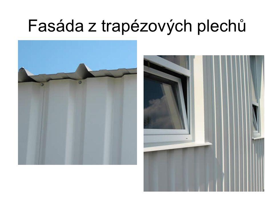 Fasáda z trapézových plechů