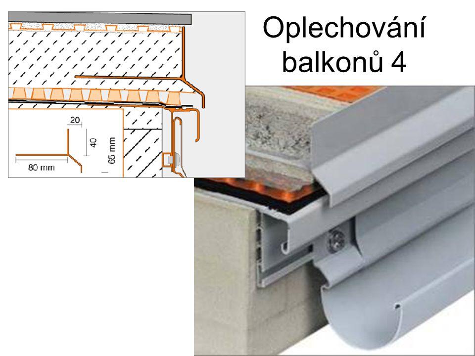 Oplechování balkonů 4