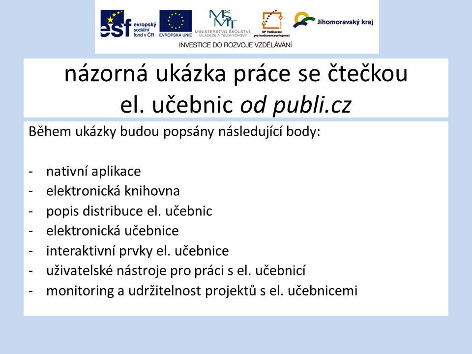 názorná ukázka práce se čtečkou el. učebnic od publi.cz