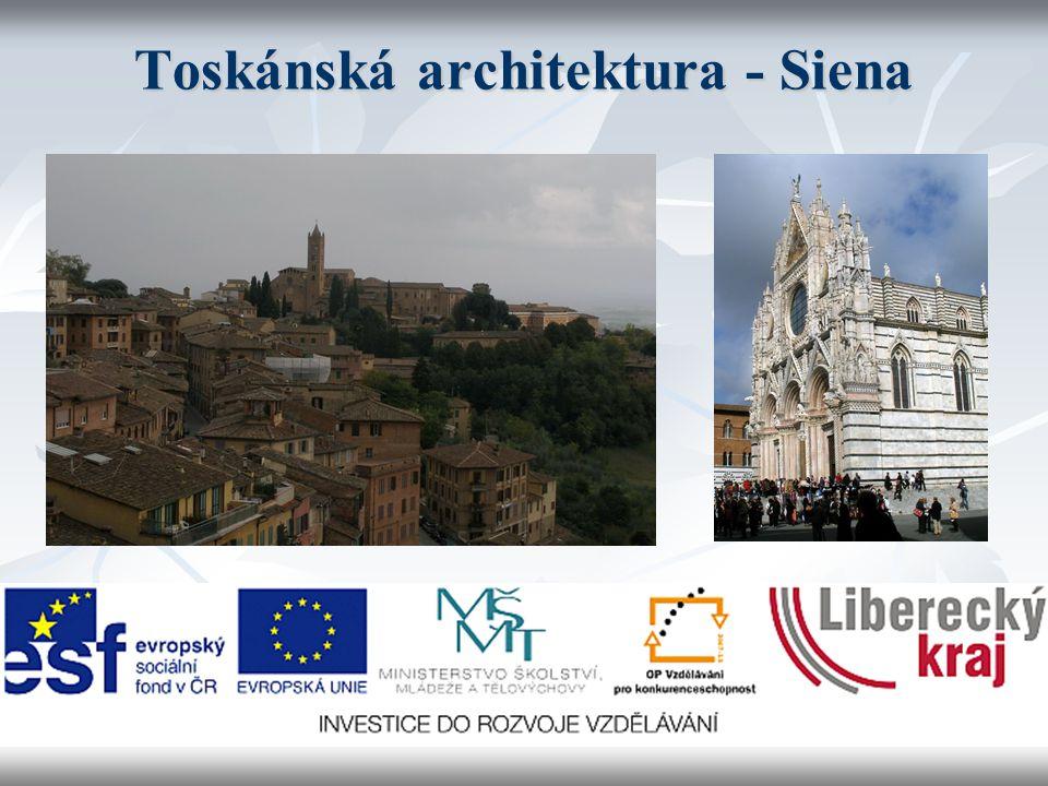 Toskánská architektura - Siena