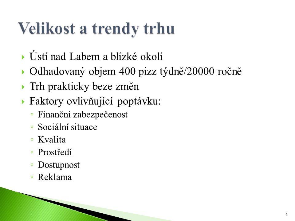 Velikost a trendy trhu Ústí nad Labem a blízké okolí