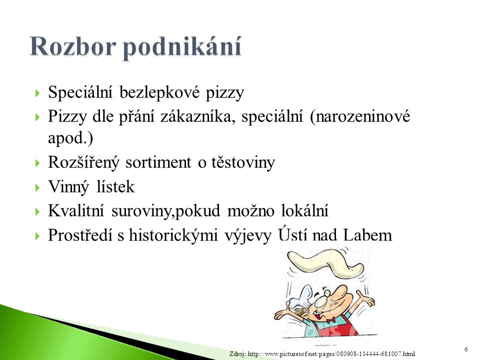 Rozbor podnikání Speciální bezlepkové pizzy
