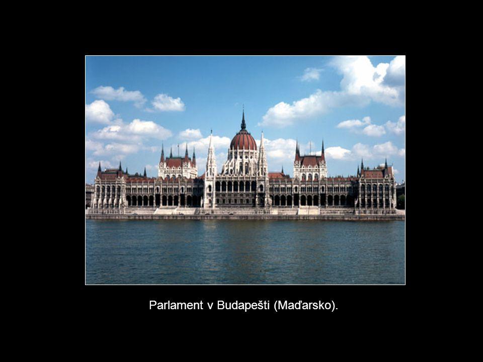 Parlament v Budapešti (Maďarsko).