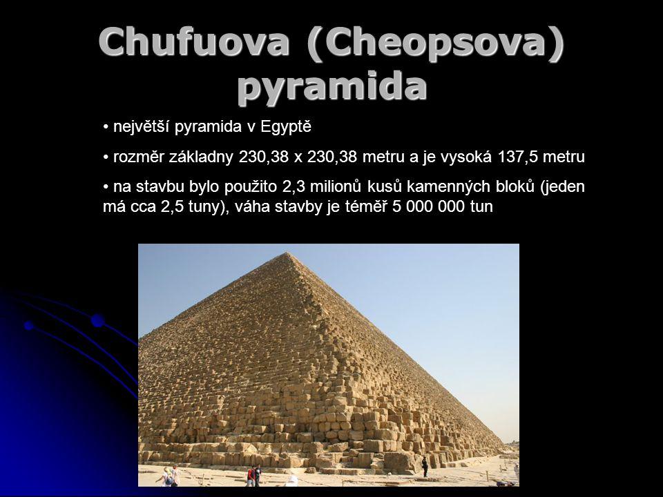 Chufuova (Cheopsova) pyramida