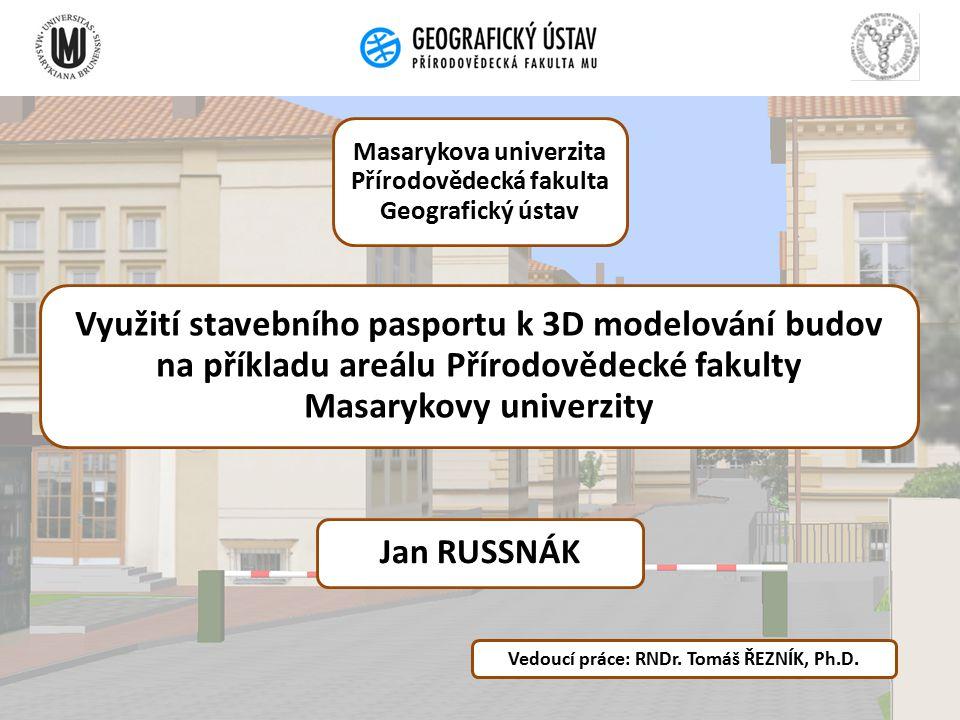 Masarykova univerzita Přírodovědecká fakulta Geografický ústav
