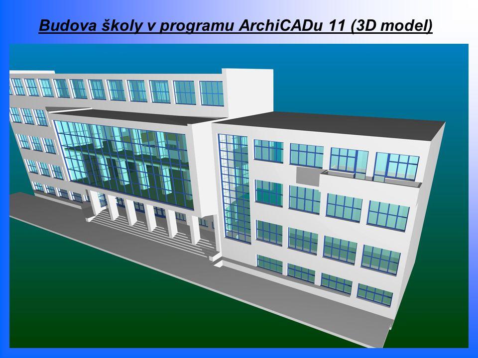 Budova školy v programu ArchiCADu 11 (3D model)