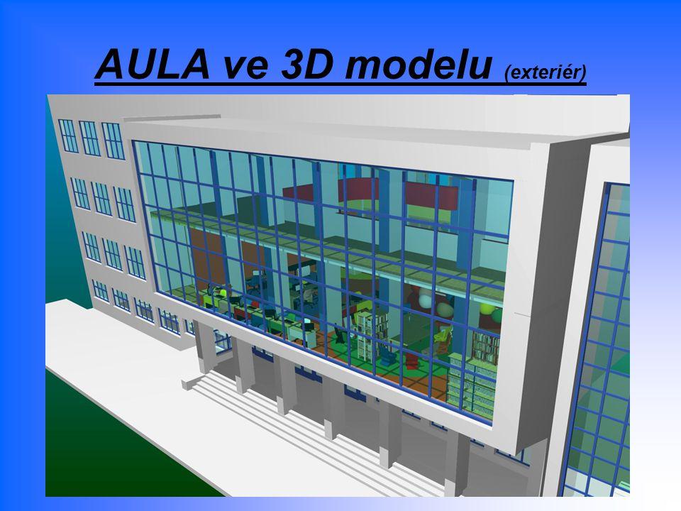 AULA ve 3D modelu (exteriér)