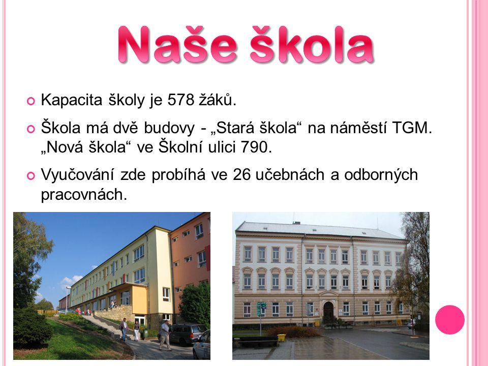 Naše škola Kapacita školy je 578 žáků.
