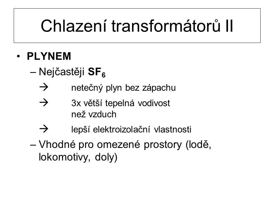 Chlazení transformátorů II