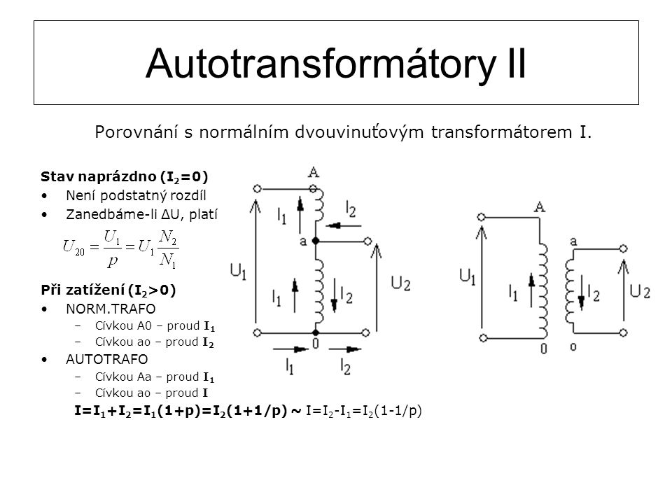 Autotransformátory II